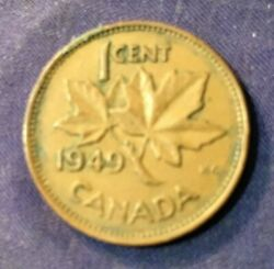 Pm159 Canada Canadian 1949 Penny Cent