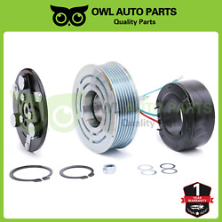 Ac Compressor Clutch Assembly Pulley Bearing Coil Fit Honda Cr-v 2.4l 2007-2014
