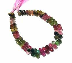 AAA+++ Multi Tourmaline Faceted Drop Beads AAA Gemstone Size 8 to 10 mm, 11