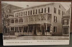 Rare 1910 Monmouth House Freehold New Jersey Nj Post Card
