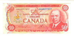 1975 Fifty Dollars Bank Of Canada Note - Unc