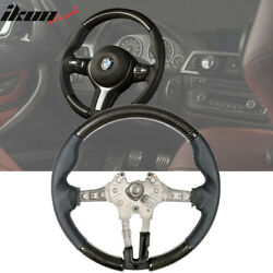 Fits 15-21 Bmw F80 F82 M Steering Wheel Cf + Perforated Leather + M Stitching