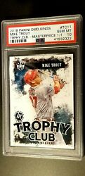 2018 Panini Diamond Kings Trophy Club #TC11 MIKE TROUT MASTERPIECE 11 ONLY ONE
