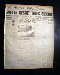 Evelyn Nesbit Actress Model Chorus Girl Suicide By Poison Attempt 1921 Newspaper