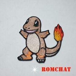 50 P Embroidered Charmander Patch Iron  Pokemon Applique Sew Bag Hat Jacket