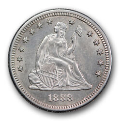 1888 S 25c Seated Liberty Quarter Uncirculated Mint State Coin R410