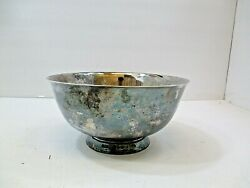 Vintage The Sheffield Company Footed Silver Bowl 37 Made In Usa 8 1/8w X 4t