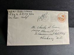 Apo 98 Osaka Japan 1945 Wwii Army Cover 98 Signal Co Soldierand039s Mail