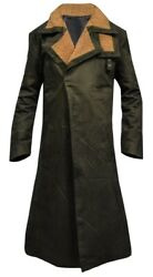 Menand039s Outfit Ryan Gosling Blade Runner 2049 Waxed Long Green Cotton Coat