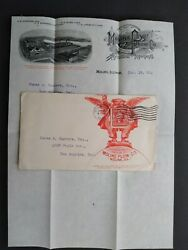 Illinois Moline 1906 Plow Company Illustrated Advertising Cover + Invoice