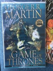 G R R Martin 10 X Game Of Thrones Comics Issues 1-10 Double Signed Mint