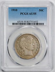 1910 Barber Half Dollar Pcgs Au 55 About Uncirculated To Ms Philadelphia