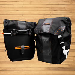 Ibera Bicycle Bag Pakrak Clip-on Quick-release All Weather Bike Panniers Pair