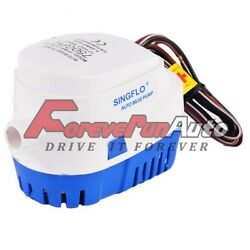 12v 750gph Boat Automatic Submersible Bilge Water Pump Auto With Float Switch