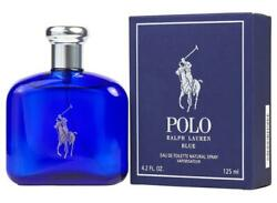 Polo Blue By 4.2 Oz Edt Cologne For Men New In Box