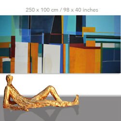 Abstract Paintings Modern Art Wall Hand Painted Canvas Decor North 98 X 40