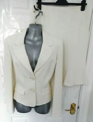 ❤ WALLIS Petite Size 14 Ivory Smart Jacket Skirt Suit Office Career NEW RRP £100