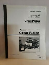 Great Plains Pt1230 Pull Type Folding Planter Operators Owners Manual