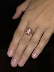 Rare 14k Gold Vintage Flowing Lady Cameo Ring Fits Size 7.25-7.75