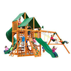 Wooden Swing Set Gorilla Playsets Great Skye I Vinyl Canopy Rope Ladder