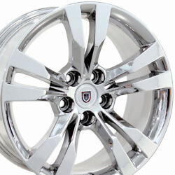 18x8.5 Wheels Fit Cadillac Buick - Cadillac CTS Style Chrome Rims 4717 SET-OEW