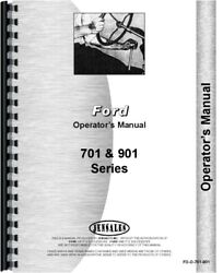 Ford 901 951 961 701 741 771 941 971 981 Tractor Owners Operators Manual