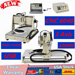 USB 3 Axis CNC 6040 ROUTER 1500W Engraver+Milling Machine Cutter Water-cooling