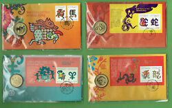 Pp. 3. Four 4 Pnc Stamped Envelopes - Chinese New Year
