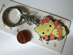 New Cute Stainless Steel Pink Hello Kitty Key chain Key Ring Handcrafted