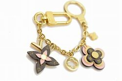 Authentic Louis Vuitton Key Ring Bijoux Sac Chaine Blooming Flower  1104780