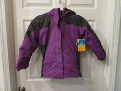 New Girls Purple And Charcoal Pulse 2 In 1 Coat Size M 10 / 12