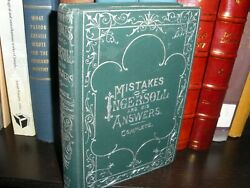 Very Rare Mistakes Of Ingersoll 1899 And Otq Thy Word Is Truth Watchtower Russell