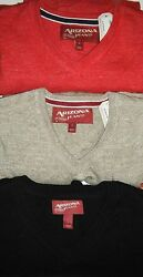 New Men's Arizona Jeans Co. Cotton V-neck Sweater Size M Red Retail 42