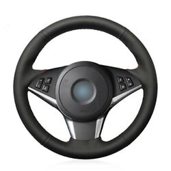Black Artificial Leather Car Steering Wheel Cover For Bmw E60 E61 Touring