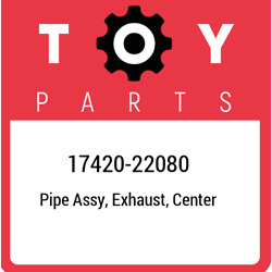 17420-22080 Toyota Pipe Assy Exhaust Center 1742022080 New Genuine Oem Part