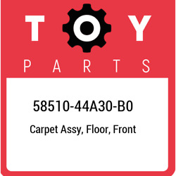 58510-44a30-b0 Toyota Carpet Assy Floor Front 5851044a30b0 New Genuine Oem Pa