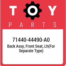 71440-44490-a0 Toyota Back Assy Front Seat Lhfor Separate Type 7144044490a0