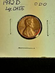 Coin Error 1982 D Lg Date Doubling On Both Sides Obv Rev Very Rare Not Graded