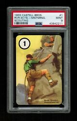 Psa 9 Rover Scout Mountaineering 1955 Castell Boy Scouts Card 1 Scouting