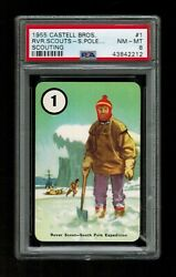 Psa 8 Rover Scout South Pole Expedition 1955 Castell Boy Scouts Card 1 Scouting