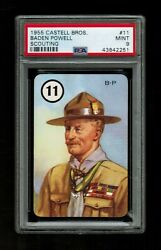 Psa 9 Baden Powell 1955 Castell Boy Scout Card 11 The Highest Ever Graded
