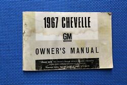 1967 Chevelle English Canadian Owners Manual Guide 67