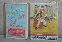 Vintage Anchor And Captain Kidd Firecracker Labels Only