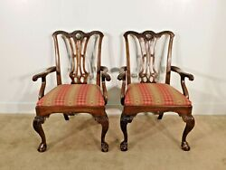 Pair Of Henredon Historic Natchez Arm Dining Chairs 2 Chairs