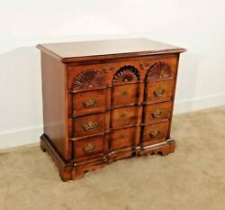 Baker Furniture Company Chippendale Shell-carved Goddard 4 Drawer Cherry Chest