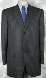 Unique_fabric_nwt_3340 Isaia Super 120s-cashmere Blended_dark_navy 45-46l 12085