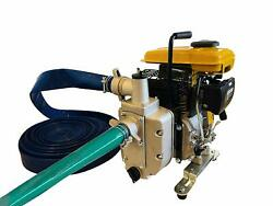 Emergency Gas Flood Overflow Water Pump Intake And Discharge Hoses Included