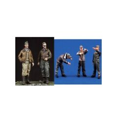 1/48 Resin Figure Model Kit Ww2 U.s.a.a.f. Ground And Pilot Crew 5 Figures