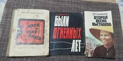 Lot Of 3 Books About The War Old Rare Edition In Russian, 1967-1969
