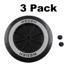 3 Weber Grill Part 63050 8 Wheel And Cap - Gas And Charcoal Kettle Grills
